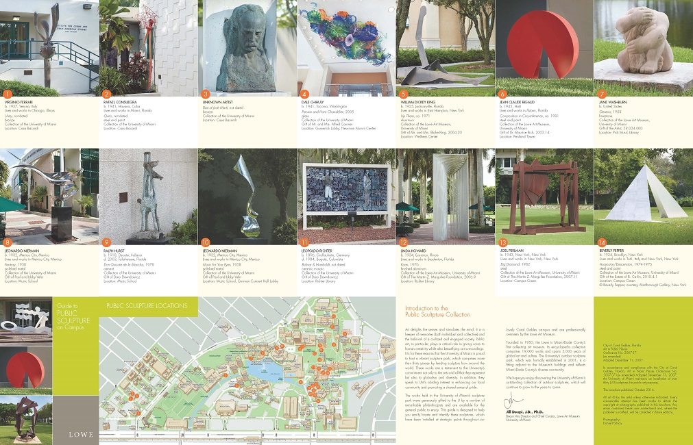 Public Sculpture Brochure Page 1